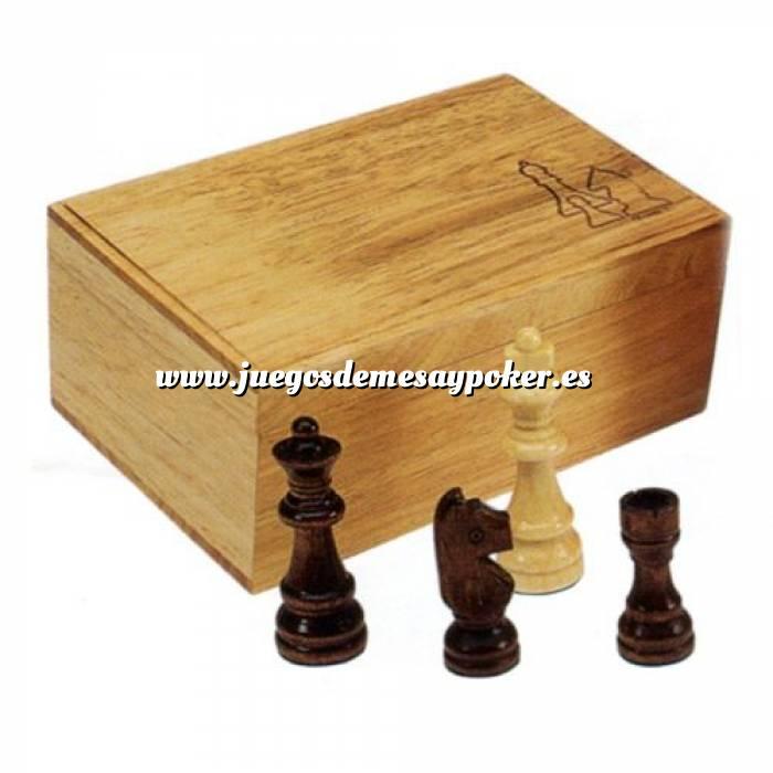 Imagen Ajedrez y damas Fichas de ajedrez madera medianas