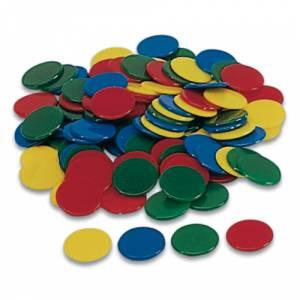 Fichas - Bolsa 100 fichas de colores 18 mm (Últimas Unidades)