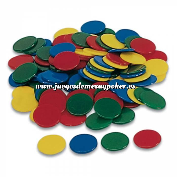 Imagen Fichas Bolsa 100 fichas de colores 15 mm
