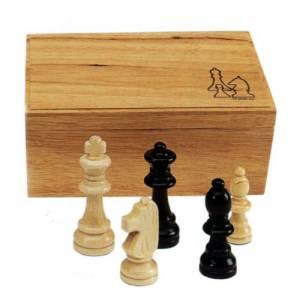 Ajedrez y damas - Fichas de ajedrez madera grandes