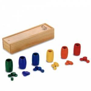 Parchís y Oca - Accesorios Parchís / Oca para 6 jugadores en madera